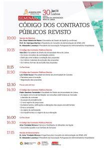 Programa Seminário Código dos Contratos Públicos Revisto - Lisboa