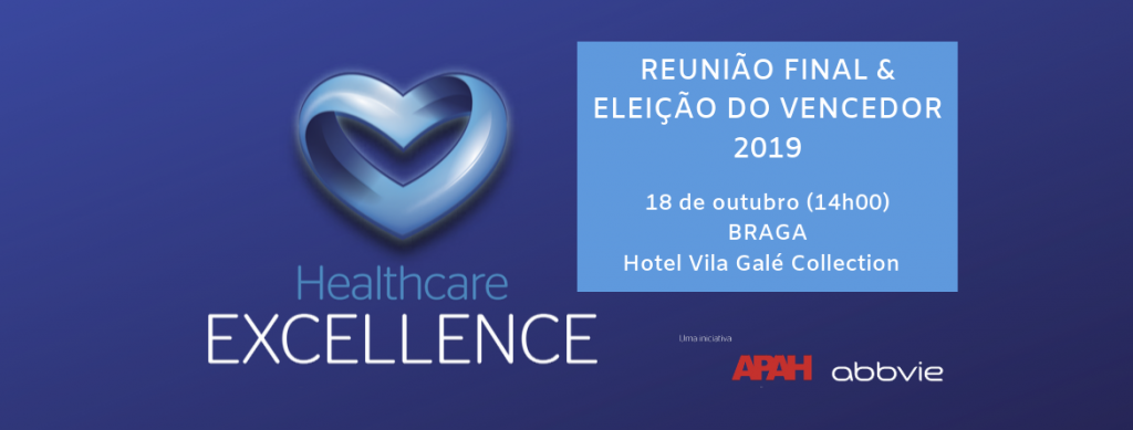 Prémio Healthcare Excellence - Reunião Final 2019